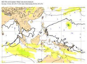台風20号が2週間後に接近か? - 沖縄の風