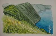 北海道の旅:摩周湖 - オヤジの水彩画集