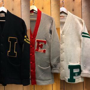 10月16日(水)大阪店ヴィンテージ入荷!!#2 Award Knit編!! LetteredCardigan & AthleticSweater!! - magnets vintage clothing コダワリがある大人の為に。