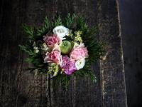 お誕生日のアレンジメント。「優しい感じ」。2019/10/12。 - 札幌 花屋 meLL flowers