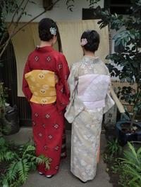レトロなお着物、渋いお着物がお気に入り。 - 京都嵐山 着物レンタル「遊月」・・・徒然日記