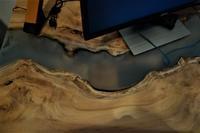 リバーテーブル辺材逆ブックマッチ - SOLiD「無垢材セレクトカタログ」/ 材木店・製材所 新発田屋(シバタヤ)