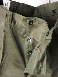 フランス軍 M-64 カーゴパンツ DEADSTOCK - 【Tapir Diary】神戸のセレクトショップ『タピア』のブログです