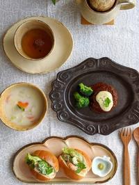 バターサンド朝ごはん - 陶器通販・益子焼 雑貨手作り陶器のサイトショップ 木のねのブログ