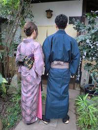 レトロな渋いお着物をカッコよく。 - 京都嵐山 着物レンタル「遊月」・・・徒然日記