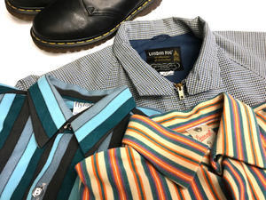 「 LONDON FOG & DR.MARTENS & STRIPE SHIRT 」 - GIANT BABY    used&vintage clothing & culture & happy