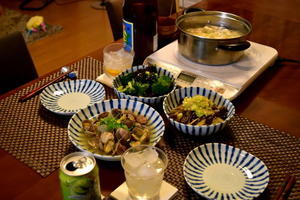 執念DEアサリのガーリック炒め、塩豚汁、うな丼 - 日々のつづきごと