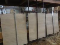 テレビボードの背板加工 - 手作り家具工房の記録
