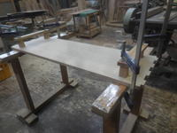 テレビボードの脚組み立て - 手作り家具工房の記録