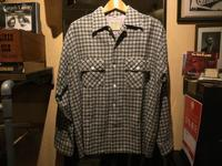 ~50's Mark Twain wool open collar shirt (mint condition) - BUTTON UP clothing