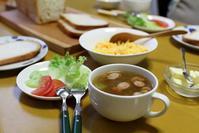 具沢山スープな朝餉 - ぶん屋の抽斗