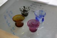生徒さんの小さなグラス - ステンドグラスルーチェの日常