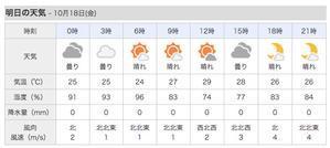 明日、金曜日は吹きません。 - 沖縄の風