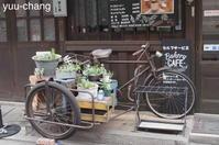 倉敷えびす通り商店街サイドカー付き自転車(カラー) - 下手糞でも楽しめりゃいいじゃんPHOTO BLOG