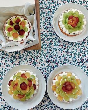 西部ガスリアルライフ福岡さんで、ぶどうのタルトレッスン - 福岡のフランス菓子教室  ガトー・ド・ミナコ  2