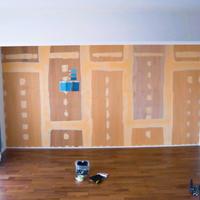 『アトリエの壁にペンキ塗り』 - 埼玉カルトナージュ教室 ~ La fraise blanche ~ ラ・フレーズ・ブロンシュ