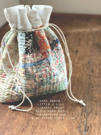 liberty patch work quilt pouch - Little Lily Hand Works