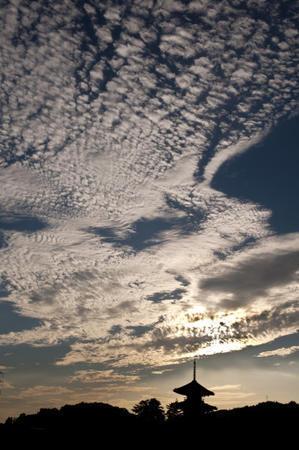 法起寺と秋の空 - 写真日記hisa