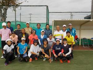 秋季年齢別ミックスダブルス大会結果 - 東金市体育協会テニス部