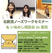 11/24(日)ノーズワークセミナー&いぬめし相談会同時開催! - Scent Line Blog