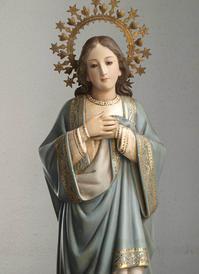 胸に手を当てる聖母マリア像  /G694 - Glicinia 古道具店