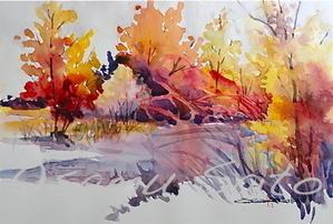 迅速なサービスだあ - ちょっとシニアチックな水彩画家 Watercolor by Osamu 水彩画家のロス日記 Watercolorist Diary