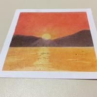 夕陽がきれいな季節なので - デザインのアトリエ絵くぼ