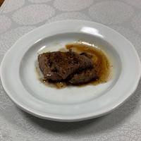 少食になってます。「和風ステーキ」 - おひとりさまの「夕ごはん」