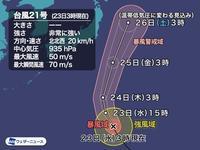 台風21号、「猛烈な勢力」へ。予想外の発達、進路?誰か手を加えていませんか? - 蒼莱ブログ
