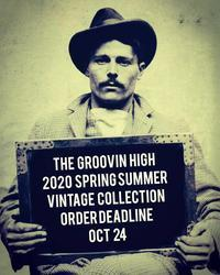 The GROOVIN HIGH 2020s/s 製品ご予約明日24日で締め切りとなります。 - ROCK-A-HULA Vintage Clothing Blog