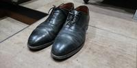 コードバン、洗いだけ見せます - シューケアマイスター靴磨き工房 銀座三越店