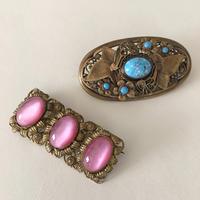 美しいグラスストーンのコスチュームジュエリー - vintage & antique スワロー商會