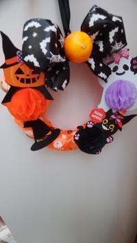 Halloween  day 🎃🍊のリース - 初めまして花咲かそです☺ 続き
