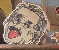ベロ出しアインシュタインさんの顔アート・ブロック - ニューヨークの遊び方