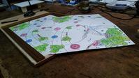 鳥と音のパネル型紙作り - ステンドグラスルーチェの日常