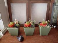 フェイク多肉の寄せ植え風ポット - 森の工房 Flower Work ナチュラルスローな空間