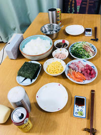 手巻き寿司の日、鶏とレンコンのトマト煮の日 - まるの家のごはんと暮らし