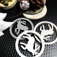 クリスマスのおしるしパーツ!!??其の2「真っ白なオーナメント」編 - ドライフラワーギャラリー⁂ふくことカフェ