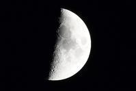 上弦の月 - ささつぶ