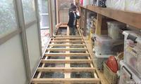 庫裡裏廊下の修繕 - 西蔵坊だより