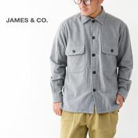 JAMES [ジェームス] Flannel Shirt [JS501/GRY] フランネルシャツ・ネルシャツ・長袖シャツ・アメカジ・メンズ・男性用・紳士・MEN'S - refalt blog