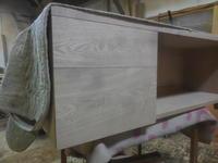 テレビボード抽斗の取り付け - 手作り家具工房の記録