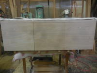 テレビボード扉の取り付け - 手作り家具工房の記録