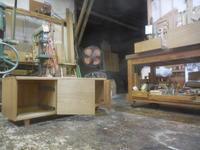 テレビボードオイルフィニッシュ塗装 - 手作り家具工房の記録