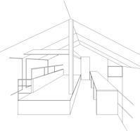 小屋裏感のある2階共用ゾーン - atelier kukka architects