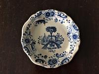 タラベラ焼き青絵付け小皿 - スペイン・バルセロナ・アンティーク gyu's shop