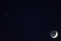 細い月と木星 - 味わう瞬間 (とき)