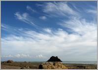 秋空と磯の風景 - 野鳥の素顔 <野鳥と日々の出来事>
