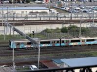 藤田八束の鉄道写真@カシオペアと貨物列車のコラボ、東北本線でカシオペアに逢いました、ここは八戸駅ホテルからの偶然の写真 - 藤田八束の日記