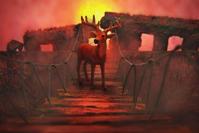 吊り橋を渡る鹿〜ネイリーマン諸島 -   木村 弘好の「こんな感じかな~」□□□ □□□□ □□ □ブログ□□□